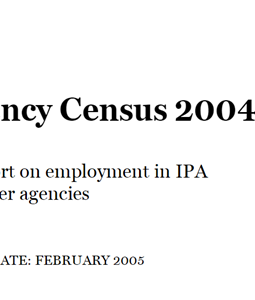 Agency Census 2004