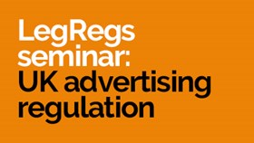 LegRegs Breakfast Webinars  - UK Advertising Regulation