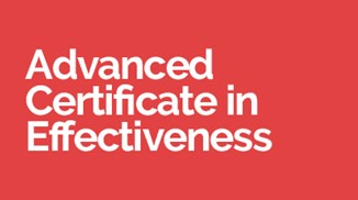 Advanced Certificate in Effectiveness