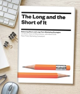 The Long and the Short of It: Balancing Short and Long-Term Marketing Strategies