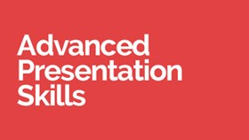 Advanced Presentation Skills course